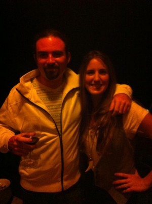 Nico and Casie (4th owner) at the Boquete Jazz & Blues Fest, 2013
