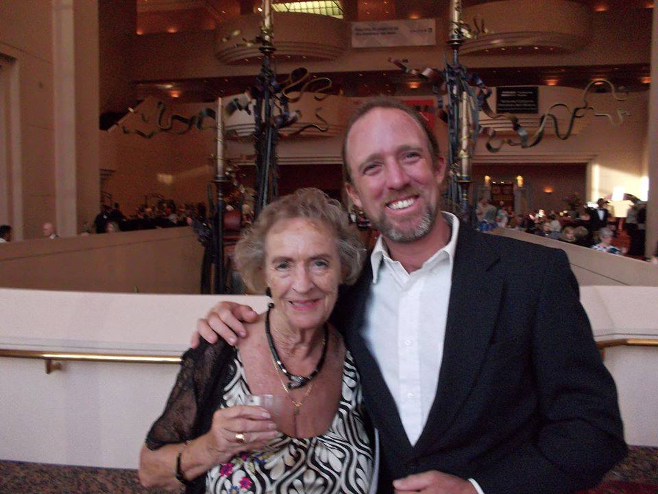 Andy posing with his mother