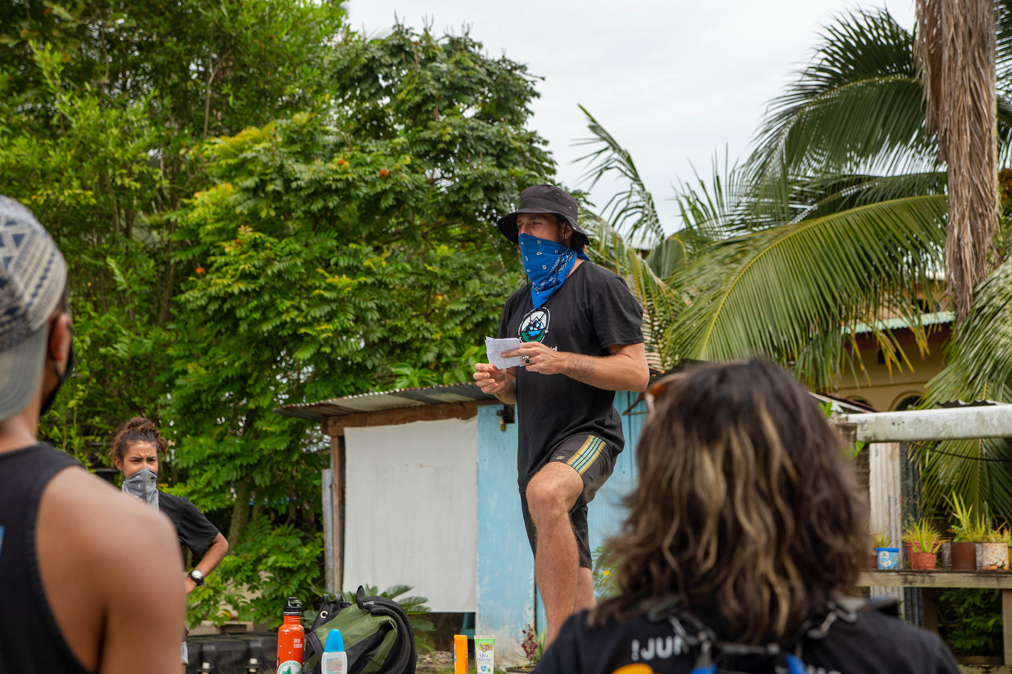 Tom Wright leads a group of volunteers on a Saturday beach clean up in Bocas del Toro, Panama