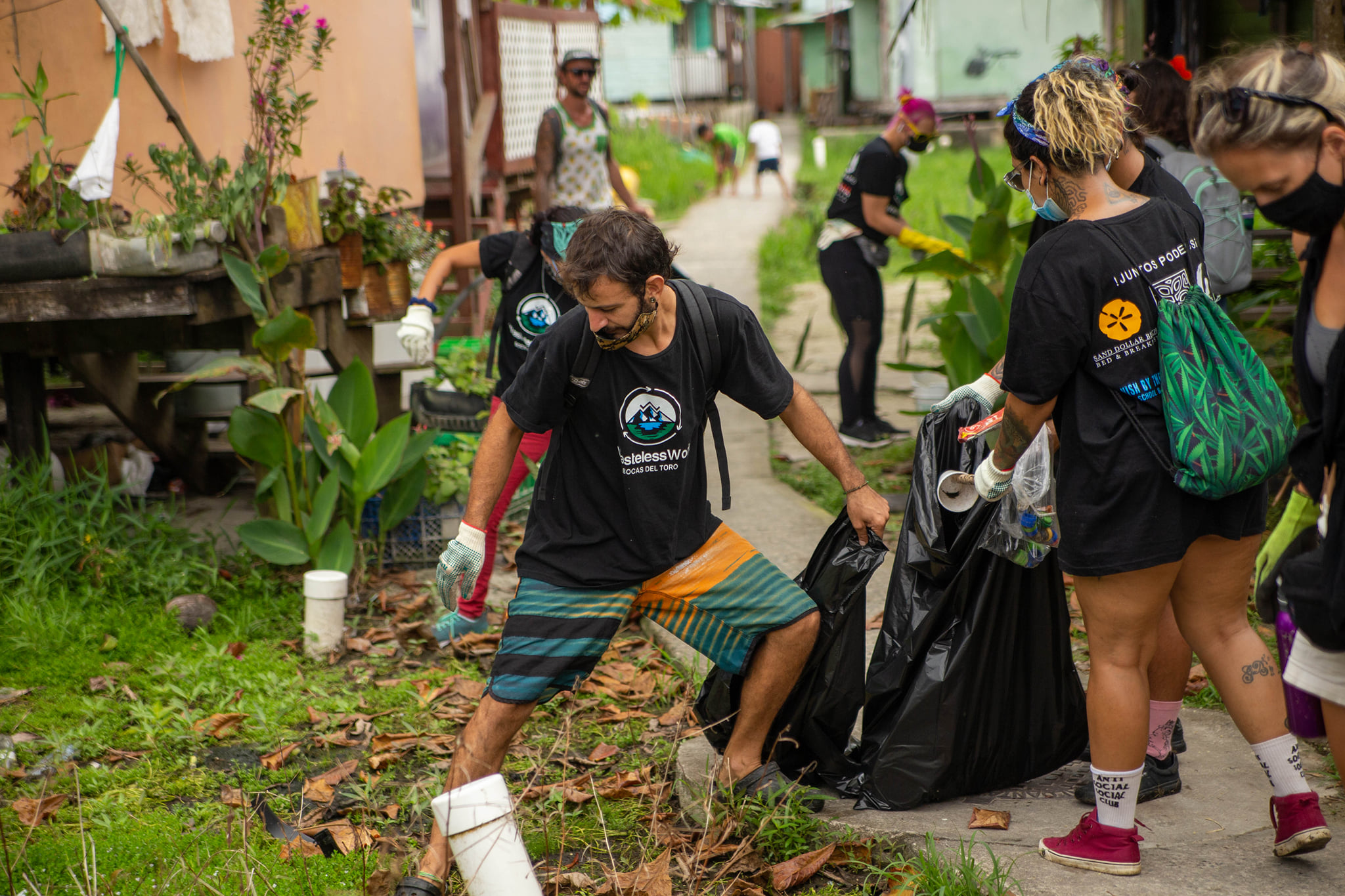 Volunteers clean Carenero Island as part of a Wasteless World clean-up
