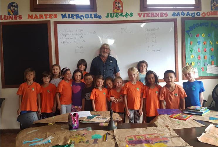 Joe Riccardi and the children of Tangerine