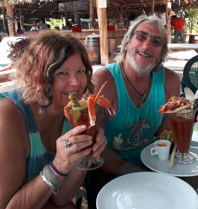 Joe Riccardi and wife Maryann at Skullys in Bocas del Toro