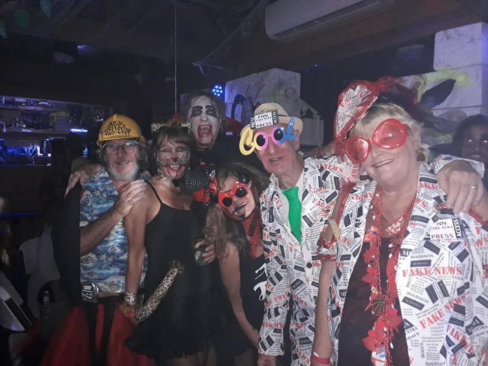 Joe and friends at Rocktoberfest 2019 at the Lost Boys Blues Bar.