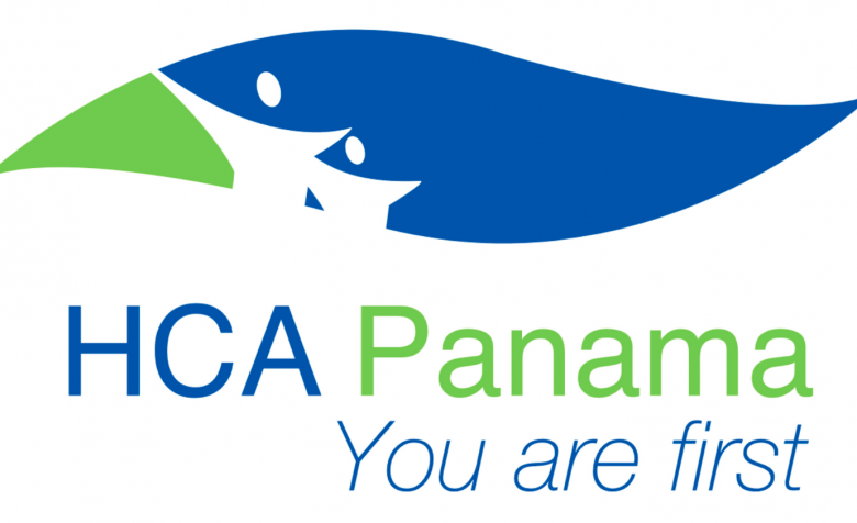 "The logo for HealthCare Alliance Panama with their slogan ""You are first"""