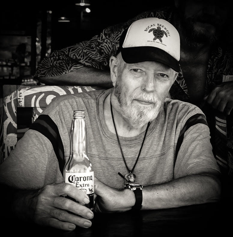 A photo of Tim Sullivan drinking a Corona beer, days before his passing.