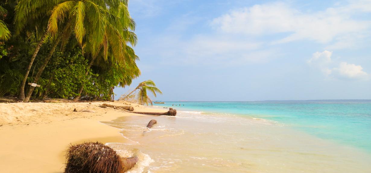 A photo of a Cayo Zapatillas, a beautiful tropical island beach in Bocas del Toro, Panama