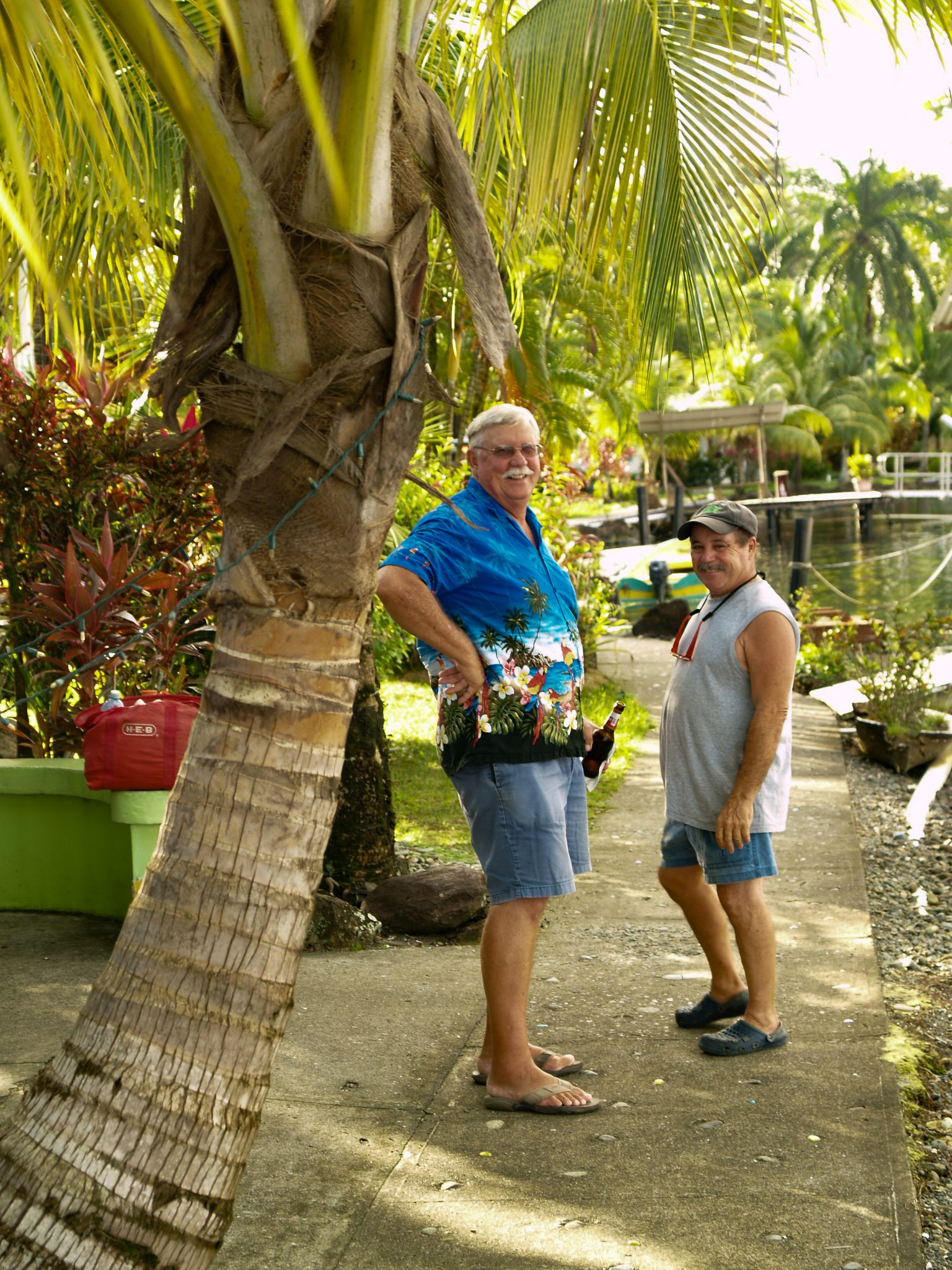 Jeff Dickinson and Peter at the Bocas Marina in Bocas del Toro Panama