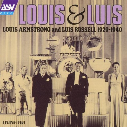 """the album cover of a collaboration between Louis Armstrong and Luis Russell entitled """"Louis & Luis"""""""