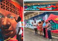 Photos of the Luis Russell mural in Bocas del Toro, Panama