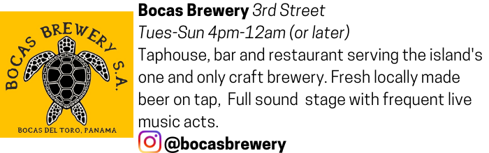 Bocas Brewery advertisement