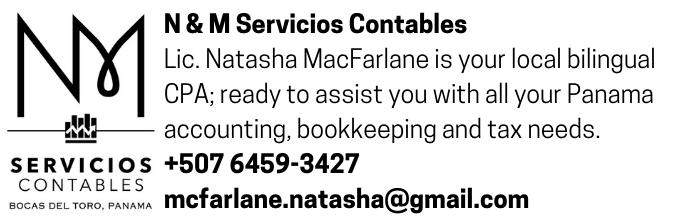 N & M Servicios Contables accounting services in Bocas del Toro Panama