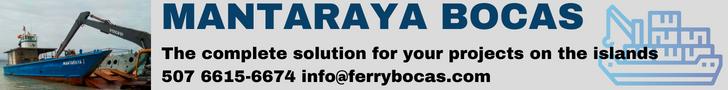 Mantaraya Bocas ad for a barge service