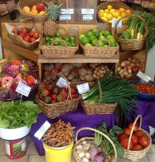 organic fruits and veggies at super gourmet