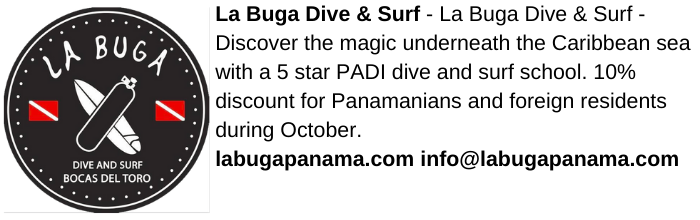 la buga dive and surf advertisement